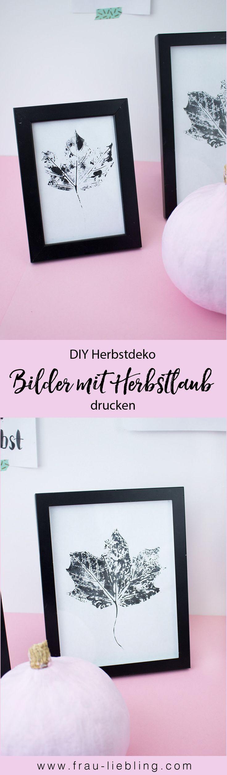 DIY Deko selber machen: Wandbilder drucken mit Herbstlaub