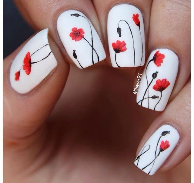 Nailart flower | Flower Nails | Floral nail art, Nail designs spring ...