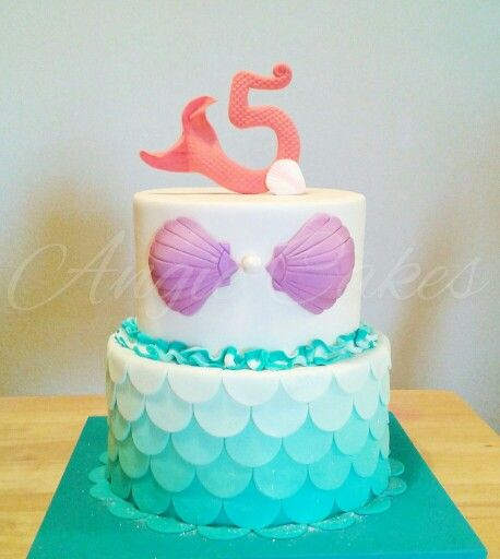 Little mermaid birthday cake