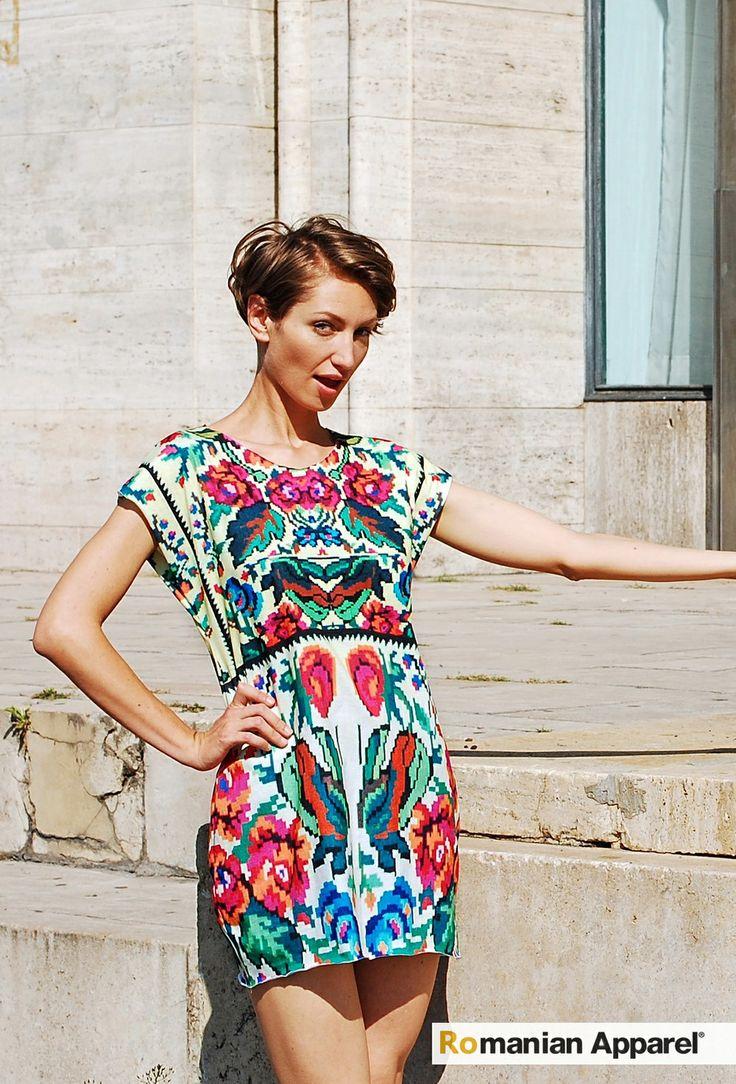 Ethnic Print Dress #lana #dumitru #lanadumitru #digitalprint #etnomotifs
