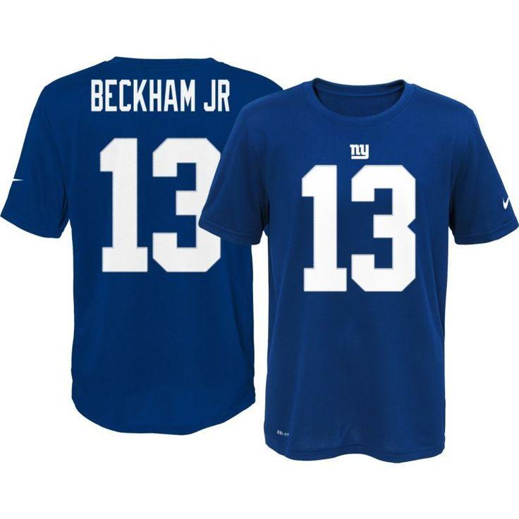 Nike Youth New York Odell Beckham Jr. #13 Blue T-Shirt, Size: XL, Team