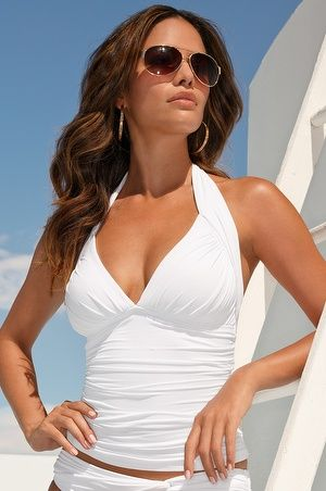 Bathing suit 2014/Halter tankini top // swim2014.  Love this one!!!