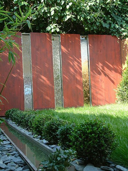 Stainless steel inserts waterfall water features for Garden pond insert