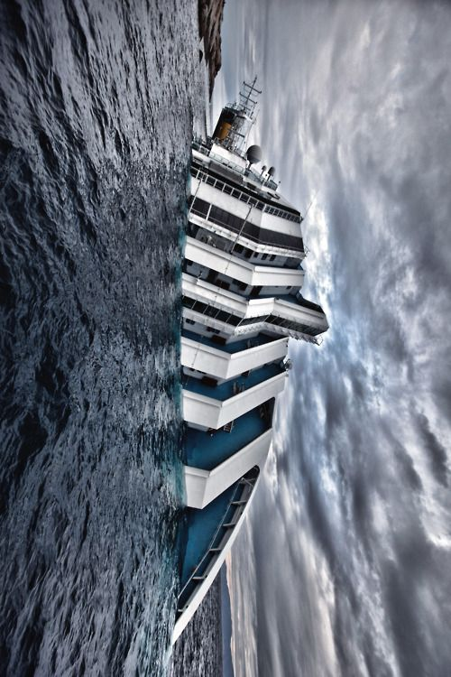 Cruise Ship Costa Concordia disaster:  The Italiancruise shipCosta Concordia[p 1]sank after it capsized atIsola del Giglio,[p 2]Tuscany, on 13 January 2012, with the loss of 32 lives.