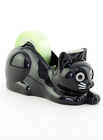 Black Kitty-Cat Tape Dispenser | PLASTICLAND