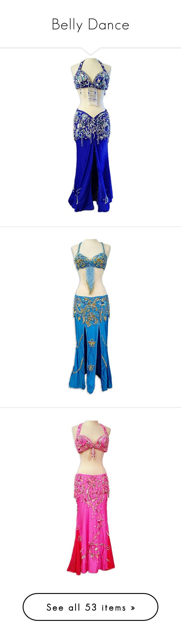 """Belly Dance"" by yukihanatora ❤ liked on Polyvore featuring costumes, dresses, belly dancing, dance, belly dance, blue costume, silver costume, blue belly dancer costume, belly dancer halloween costume and silver halloween costume"