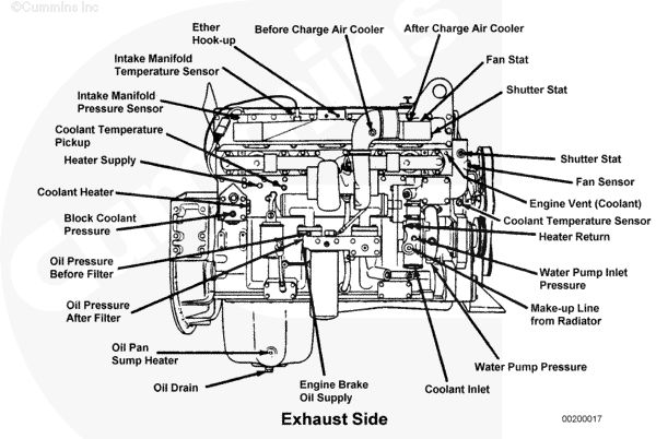 c15 engine diagram coolant sensor