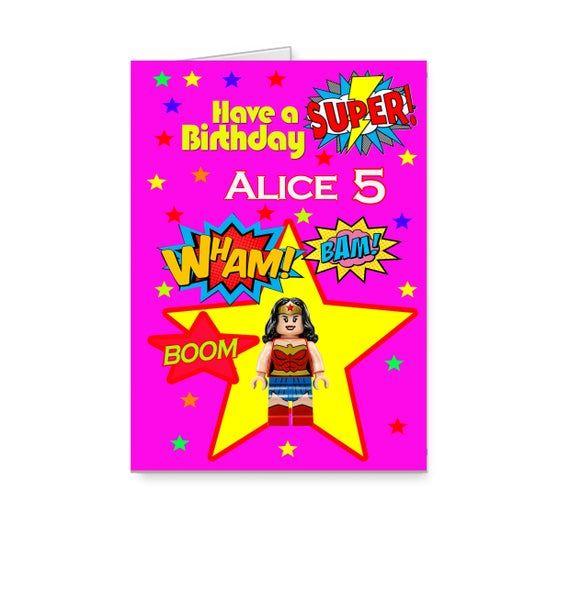 Personalised Lego Birthday Card Lego Girls Birthday Card Etsy Lego Birthday Cards Lego Birthday Girl Birthday Cards