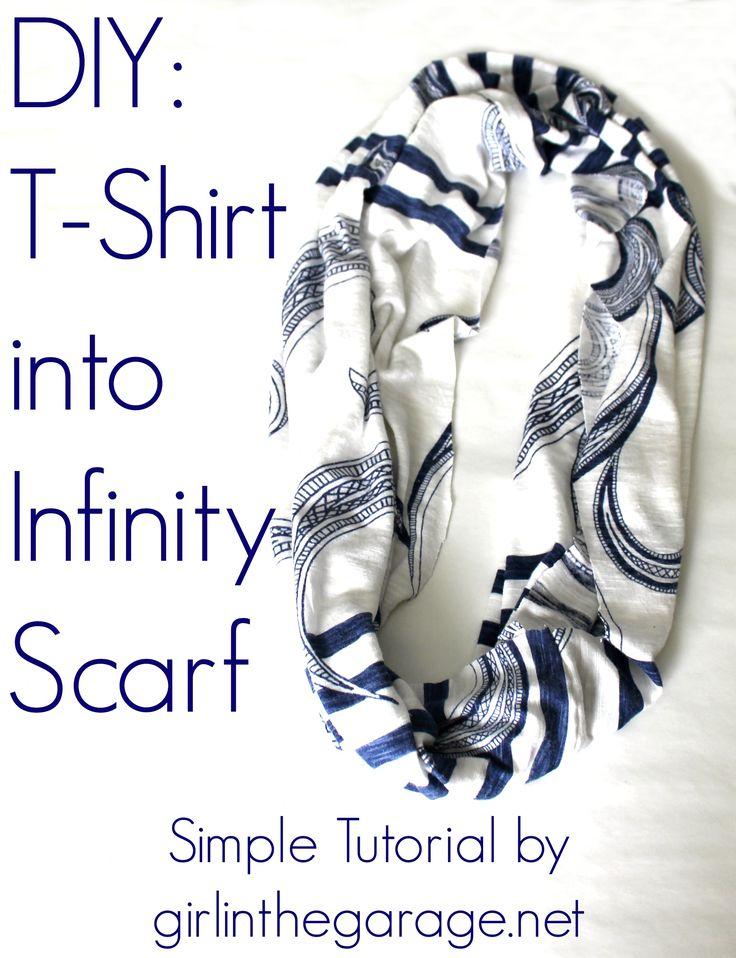 DIY: T-Shirt into Infinity Scarf