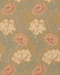Chrysanthemum Green/Biscuit från William Morris & Co