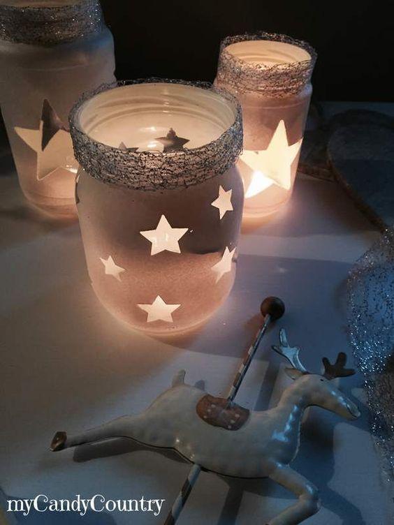 Riciclo Creativo: barattoli decorati per Natale - idee creative, riciclo creativo, fai da te creativo, lavori creativi | myCandyCountry.it: