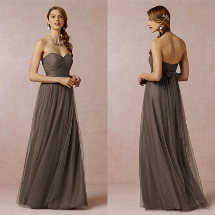 Warm Mocha Floor-length Bridesmaid Dresses Soft Tulle Prom Dresses For Bridesmaid Girl Multi-Wearing Ways Long Formal Bridesmaid Dresses Online with $86.55/Piece on Graceful_ladies's Store | DHgate.com