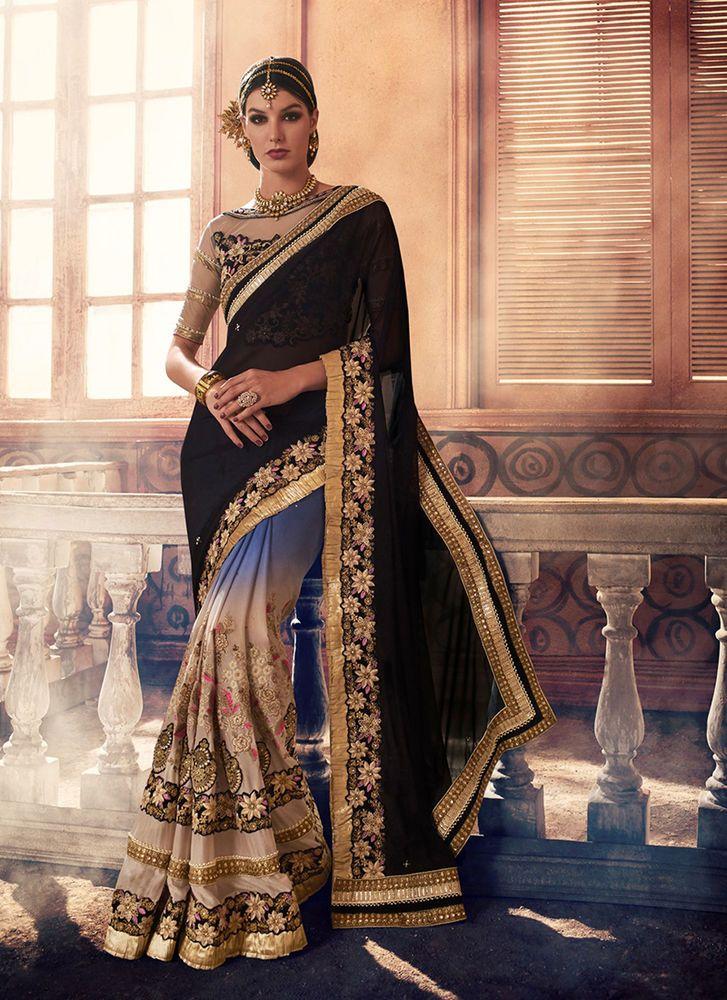 Bollywood Saree Wedding Designer Sari Partywear Pakistani Indian Dress Ethnic #KriyaCreation #DesignerSaree