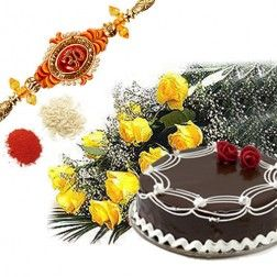 Cake With Roses  Rakhi & 1kg Dry Fruits   Are you planing to celebrate this raksha bandhan. And want to buy special rakhi gifts for your borther or sister then gintsnfashion offers you special rakhi gifts
