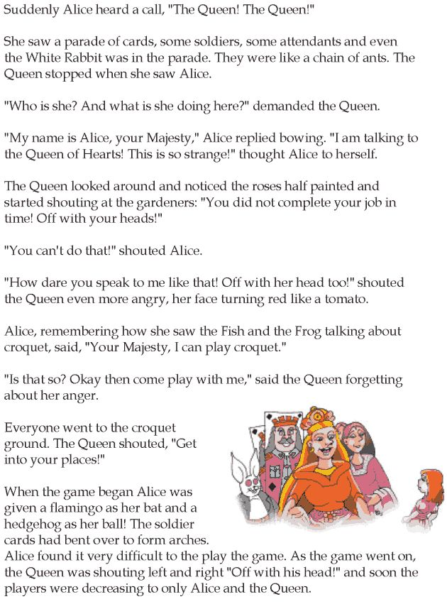 Worksheets Grade 5 Complete The Story 102 best images about english reading grade 5 lessons 1 25 on lesson 13 fantasy alice in wonderland 5