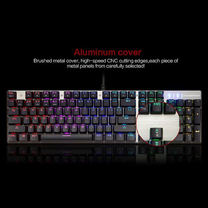 Motospeed CK104 RGB Backlit Mechanical USB Blue Switch Gaming Keyboard