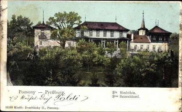 Ak Pozsony Pressburg Bratislava Slowakei, 3tes Batzenhäusel - 10023652