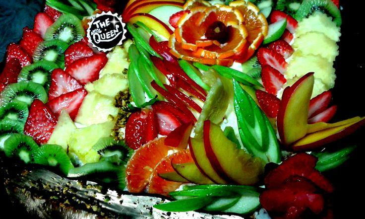 Fruit Dessert Cake Arte Colorfull