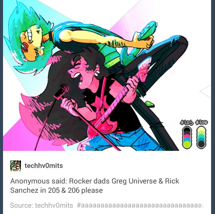 Greg Universe and Rick Sanchez ♡ I had no idea how badly I wanted this untill I saw it.