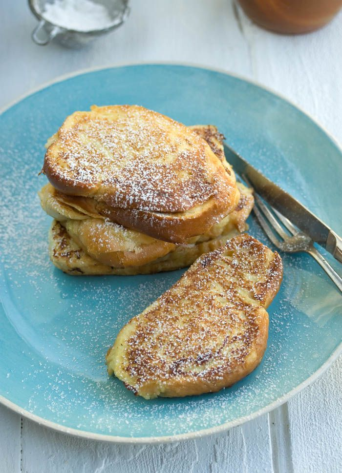 {banana and salted caramel stuffed french toast sandwich}