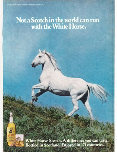 Original Print Ad 1978 White Horse not A Scotch in The World Can Run with The… | eBay