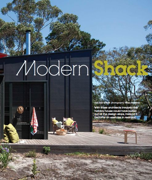 modern shack - text: Sue O'Neill, photography: Hilary Bradford