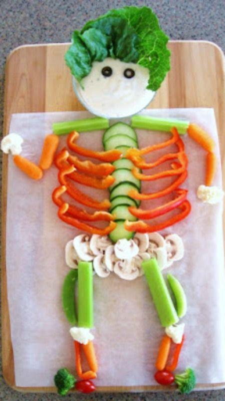 Make a Veggie Skeleton ~ So cute and fun for Halloween