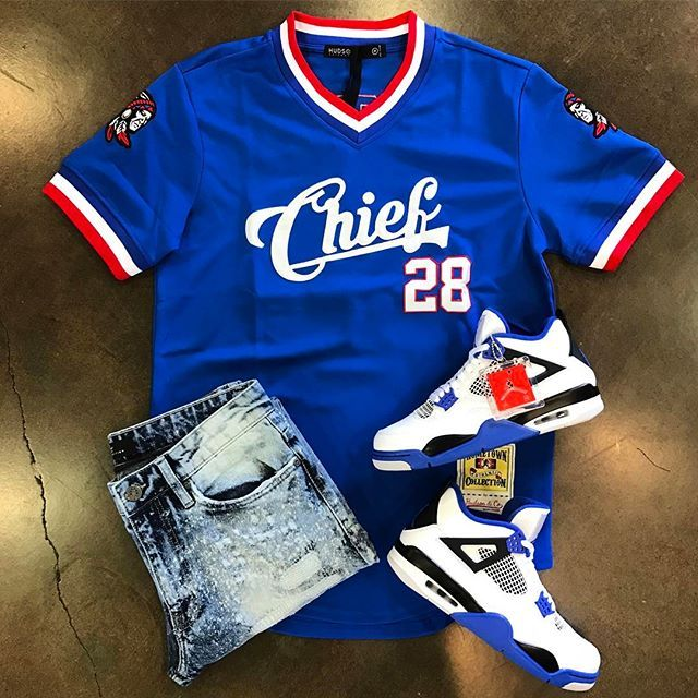 So Much Heat On This Windy Day....Chief Jersey:$60JC Destroyed Blue Jean:$70Air Jordan 4 Retro