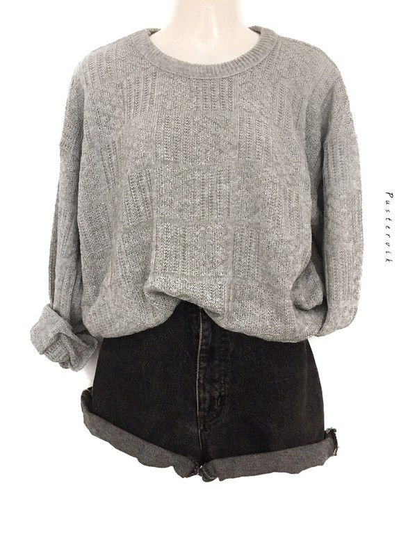 My Street Style Vintage Pullover Sweater Gray Melange Knitwear Knit Wear Oversize by true vintage! Size Uni for 37,00 €. Take a look at it: www.kle ...