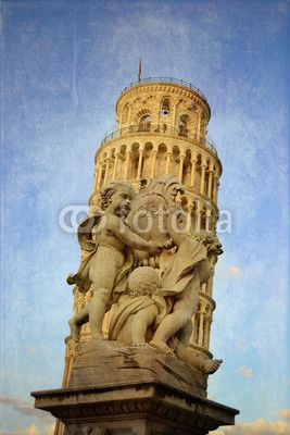 Pisa - i putti e la torre su fondo blu. #landmark #holiday #landmark #symbol #holiday #art #tourist #tower_of_pisa #building #city #background #europe #business #school #square #italy #tuscany #pisa #basilica #architecture #Italy #cathedral #tower #tuscany #angels #architecture #miracle #travel #bell #microstock #marketing #webdesign #design #SEO #NYC #dome #europe #tourism #travel #dome #pendant #tourism #church #marble #italian #tower #cherubs #old #antique #vintage #retro #aged #urban