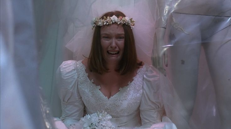 Muriel's meltdown. It's much darker character study than people may remember - it's not a light little comedy - it's very dark at times....very true. Toni Collette in MURIEL'S WEDDING.