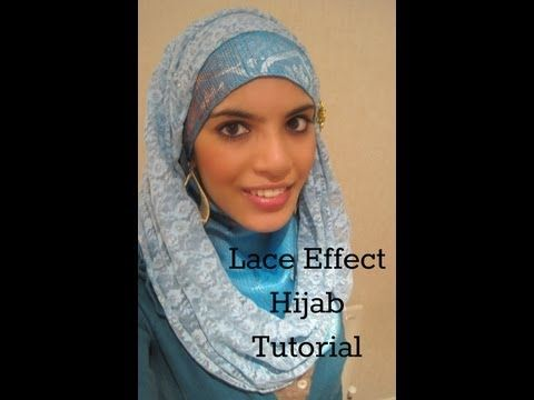 ▶ Hijab Tutorial/Style- The Lace Effect! - YouTube