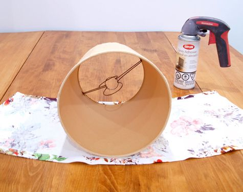 Tutorial for covering a funky old lampshade with fresh new fabric