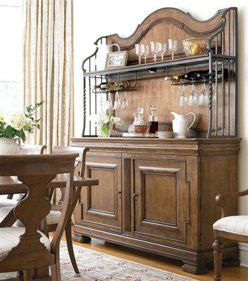 Pennsylvania House 2 Piece New Lou Versailles Buffet With Hutch Cognac