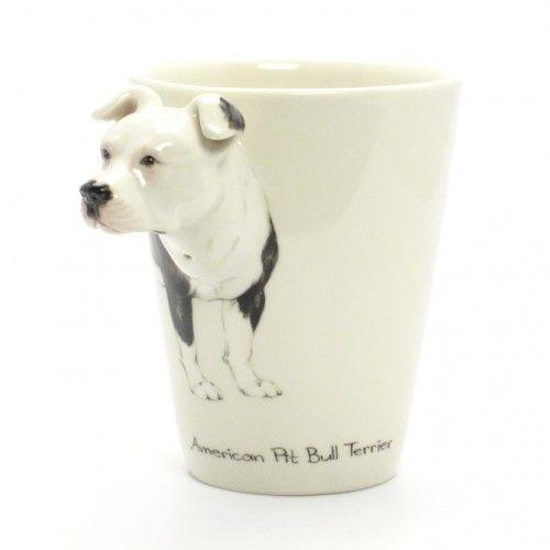 American Pit Bull Terrier 00010 Black White Mug Dog Lover Gifts Decor