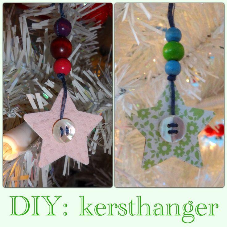 Kerstversiering DIY: kindvriendelijke kersthangers om zelf te maken kerstboomhanger christmas tree ornament kerst kerstboom #leukmetkids