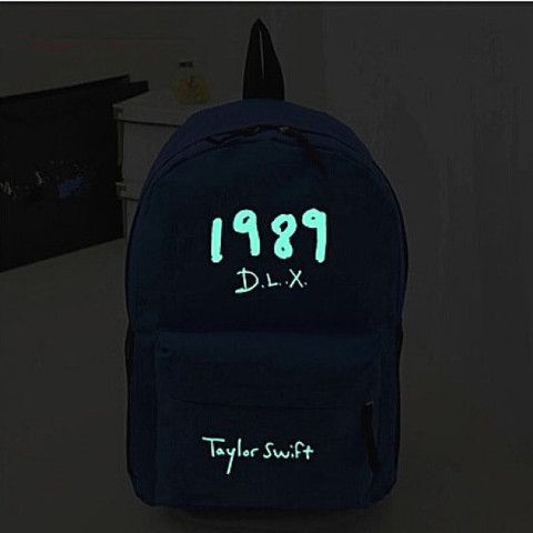 taylor swift 1989 dlx luminous backpacks for girls or boys