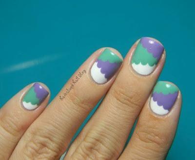 Neverland Nail Blog: Cloud and Color-Blocking Hybrid Mani!: Neverland Nails, Nails Art, Nails Blog, Nails Nails Nails, White Nails, Nails Ideas, Colorblock Nails, Nails Manicures, Diy Nails