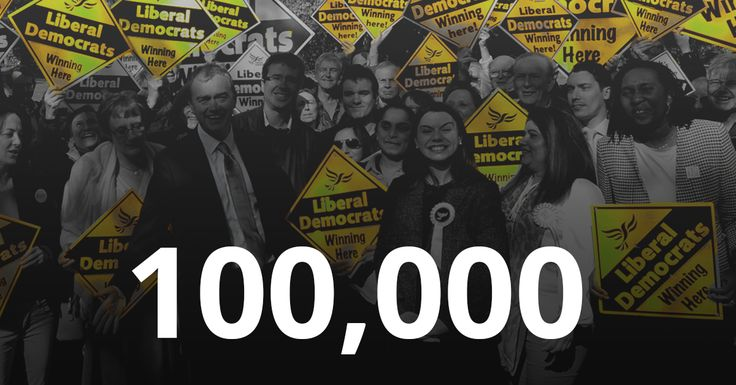 The Liberal Democrat membership surge is about to take the party to a landmark 100,000 members – thanks to a staggering 12,500 joining since Theresa May announced the snap General Election last Tuesday.