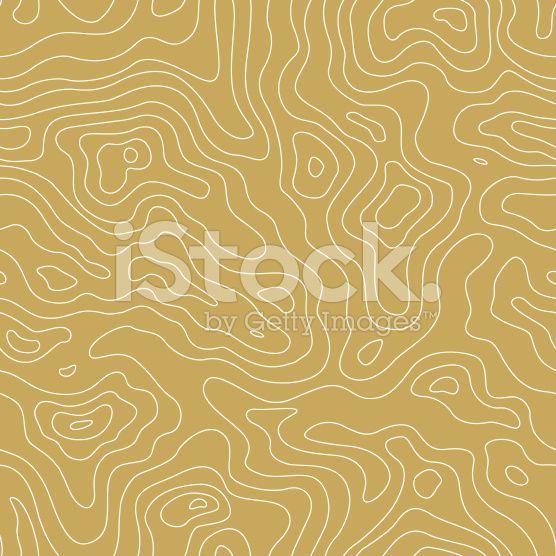 Topographic Karte nahtlose Golden Muster. Vektor-Hintergrund lizenzfreie Stock-Vektorgrafik