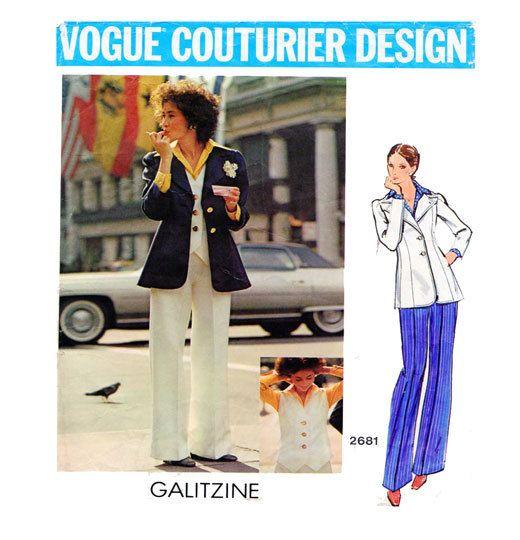 Galitzine Couturier Design 3 Piece Suit with by FindCraftyPatterns