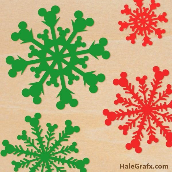 FREE Christmas Mickey Mouse Snowflake SVG Pack