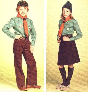 Uniform voor welpen en kabouters na 1973. Hoe verzin je het!