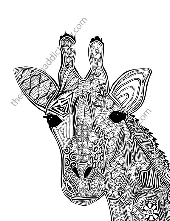 Best 25 giraffe coloring pages ideas on pinterest for Giraffe mandala coloring pages