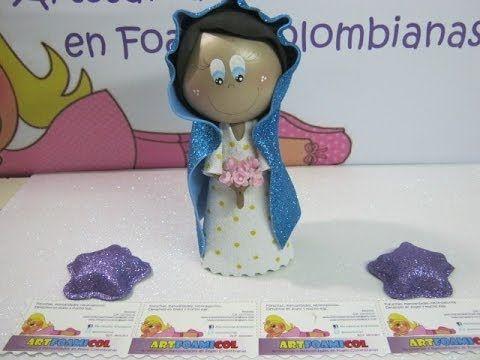 VIRGEN MARIA PARA NACIMIENTO PESEBRE O PORTAL EN FOAMY O GOMAEVA CON MOLDES