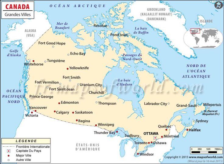 Carte #Canada avec #villes