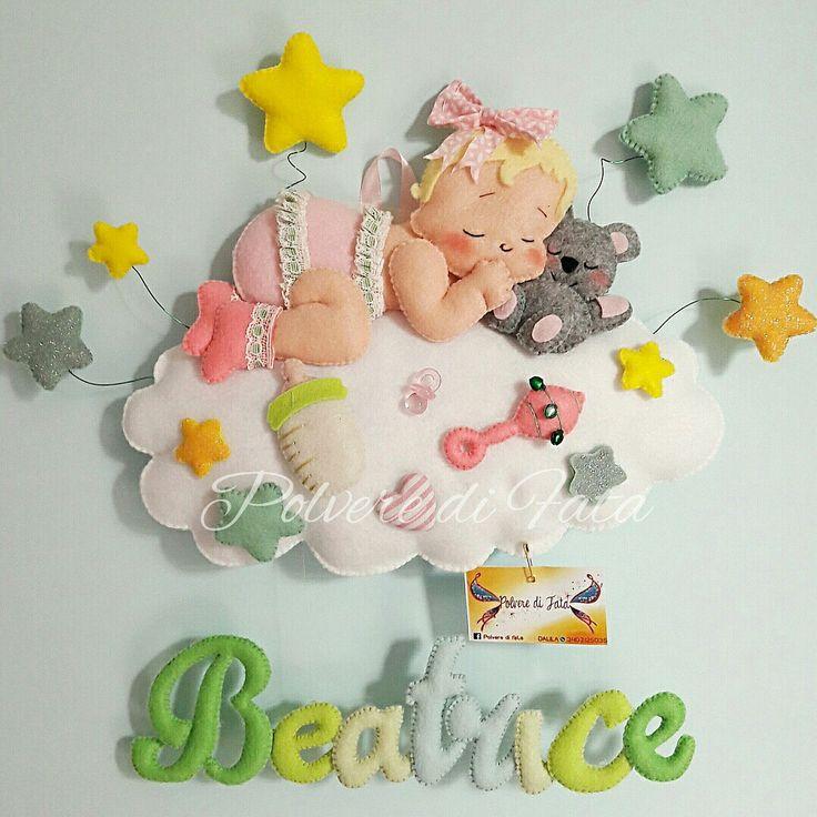 Fiocco nascita dolci sogni personalizzabile