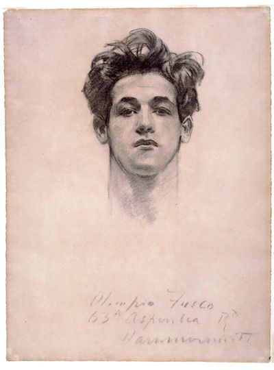 "Olimpio Fusco - John Singer Sargent. Every time I see a new Sargent, I hear Rufus Wainwright's ""The Art Teacher."""