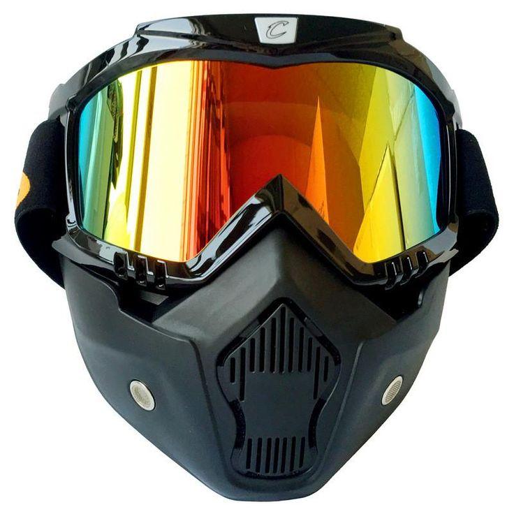Men Women Ski Snowboard Eyewear Motorcycle Motocross Racing Goggles Outdoor Sports Glasses Mask Sunglasses