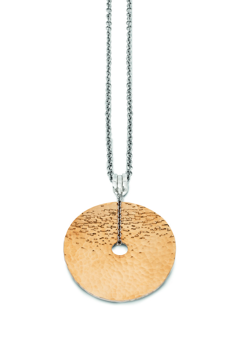 Full Moon: Hammer gold disc with swing